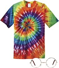 Gravity Trading 70s Hippie Costume Kit (Includes T-Shirt and Clear Lens Sunglass)