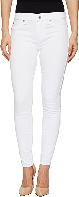 7 For All Mankind Ankle Skinny w/ Faux Pockets in Clean White