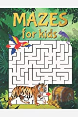 Mazes For Kids: Maze Activity Book With 40 Fun & Educational Maze Puzzles For Kids Ages 5+ Paperback