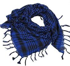 RedBrowm Unisex Fashion Women Men Arab Shemagh Keffiyeh Palestine Scarf Shawl Wrap (Blue)