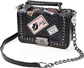 Cross Body Fashion Rivet Chain Bag Single Shoulder PU Leather Side Purse Messenger Bag Hand bag for Women and Girls