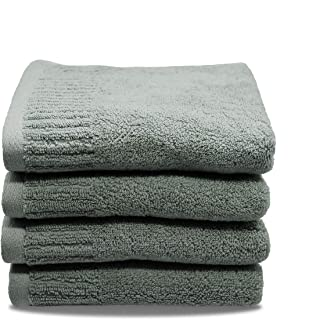 100% Cotton Fluffy Hand Towels Washcloth for Bathroom Hotel Spa Terry Cloths Face Towels 4-Pack