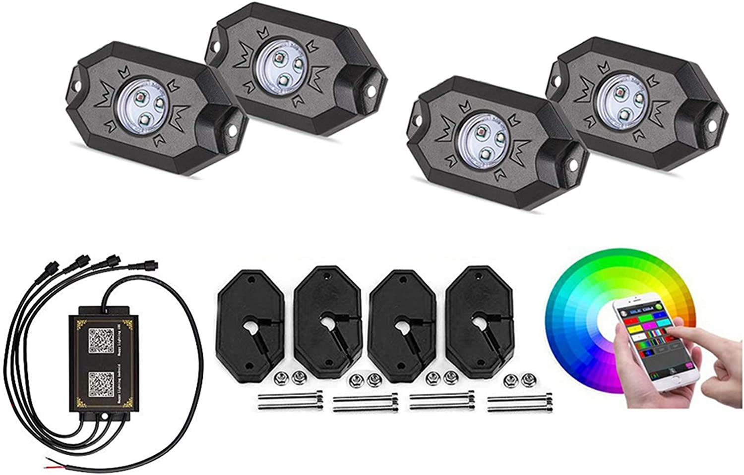 A surprise price is realized LUKUCEA Car Super beauty product restock quality top Underglow Lights System Neon Strip Underbody