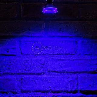 Auraglow Bombilla LED GU10 de haz estrecho de color, color azul