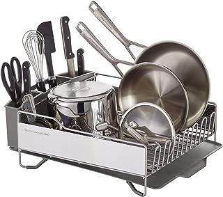 KitchenAid KNS896BXGRA Full Size Dish Rack, Light Grey