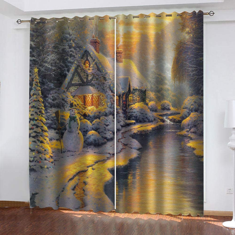 EEFTYR Blackout Curtains 2021 spring and summer new Max 84% OFF Grommet Drapes Set 2 of Print 3D Panels