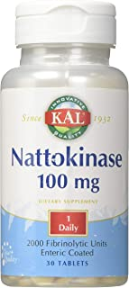 Kal 100 Mg Nattokinase Tablets, 30 Count