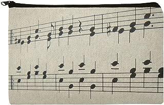 Sheet Music Musical Notes Score Musician Makeup Cosmetic Bag Organizer Pouch