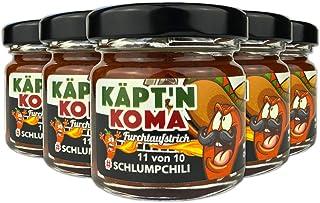 """Schlump-ChiliKäpt""""n Koma Fünferpack Set Schärfste Chili Paste mit Carolina Reaper und Ingwer ULTRA SCHARF! 5 x 35g"""