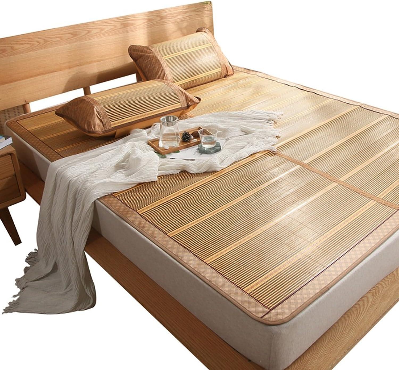 Cool Mattress,Bedding Straw Mat Summer Sleeping Mats Bed-mat Double-Sided Folding Smooth No Glitch, 2 Styles, 5 Sizes Summer Sleeping mat (color   1 , Size   1.35×1.95m)