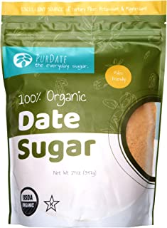 100% Pure Organic Date Sugar - Healthy Alternative Sweetener for Baking, Cereals, Cooking (14 Ounces)