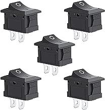 5Pcs 2 Pin Snap-in On/Off Position Snap Boat Rocker Switch 12V/110V/250V OT8G