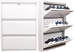 NICS Wall Mounted Metal Shoe Rack (Heavy Duty)