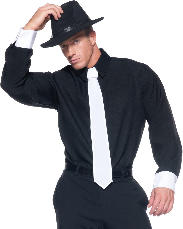 Underwraps Mobster - Camiseta para hombre, color negro