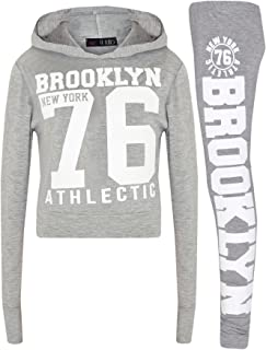 a41501aa3c2ac A2Z 4 Kids® Enfants Filles Top Designer Brooklyn New York 76 Athletic  Imprimer Branché Encapuchonné