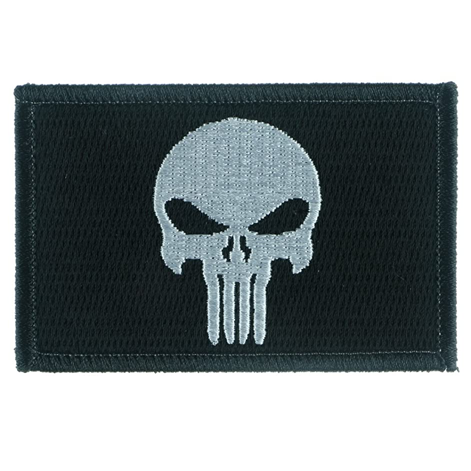LiZMS Iron Sew On Applique Patch : The Punisher (30119)