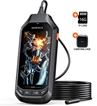 5.0MP Borescope with 4.5in IPS Screen, DEPSTECH 1944P HD Digital Endoscope, 0.33in Thin..