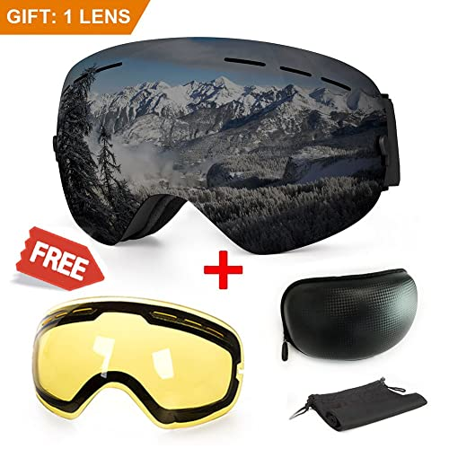 51e788acb76 Ski Goggle with Interchangeable Lens  Amazon.com