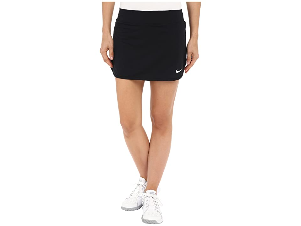 Nike Court Pure Tennis Skirt (Black/White) Women