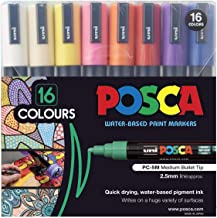 Uni-Posca Paint Marker Pen - Medium Point - Set of 16 (PC-5M16C)