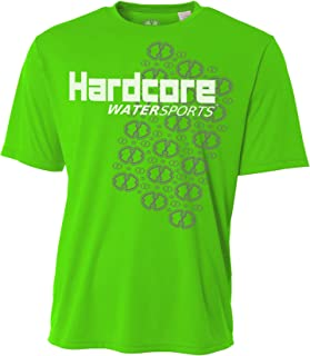 Hardcore Water Sports Mens Rash Guard Surf Swim Shirt SPF Protection Loose Fit
