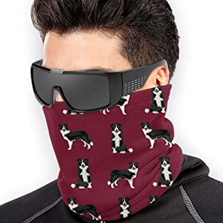 Bandana for Rave Face Mask Dust Wind UV Sun Protection Neck Gaiter Tube Mask Headwear Mask for Men Women - Border Collie Dog Breed Pet Lovers Sewing Projects Ruby