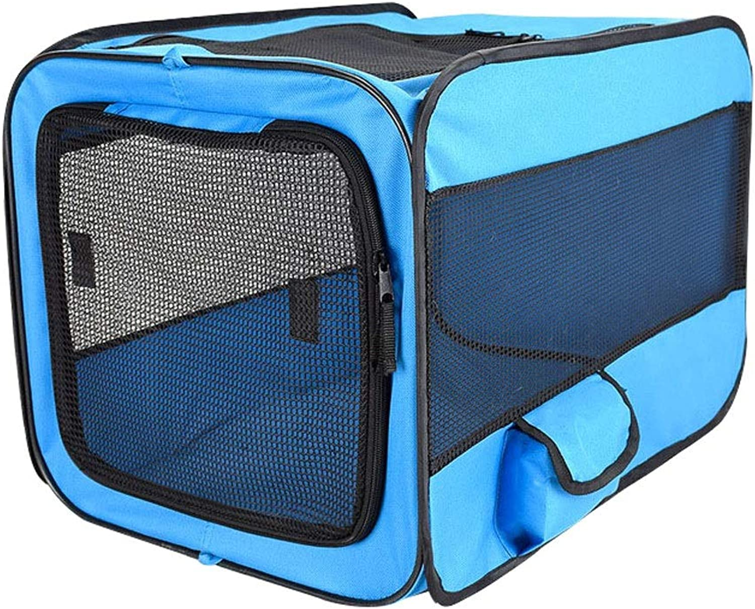 Lovingroy999 Pet Carrier Crates Portable Expandable Soft Sided Kennel Car Seat Animal Travel Bag Carrier with Mesh Top Pop Up Cage for Dogs and Cats (Size   M)