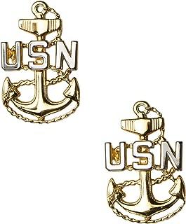 USN CPO Collar Device, Service Uniform