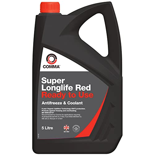 Comma SLC5L Super Red Ready to Use Antifreeze and Coolant, 5 Litre