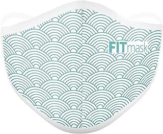 FITmask Mascarilla Pro Reutilizable Lavable Certificada Tejido Hidrófugo Made in Spain Oriental Waves - Adulto Cabecera - L