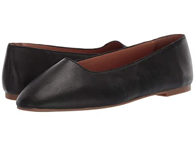Madewell Corina Square Toe Flat (True Black) Women