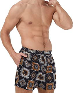 Sponsored Ad - MANSPHIL Men's Silk Boxer Shorts, Luxe Pure Mulberry Silk Underwear, Pajamas Shorts with Pocket and Wide Wa...