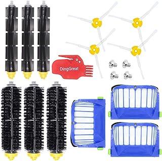 DingGreat Kit Repuestos y Accesorios Filtro y Cepillo Lateral para Aspiradora iRobot Roomba Serie 600 605 610 615 616 620 625 630 631 632 639 650 651 660 670 680 681 691