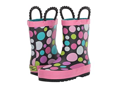 Western Chief Kids Dancing Dots Rain Boot (Toddler/Little Kid/Big Kid) (Black) Girls Shoes