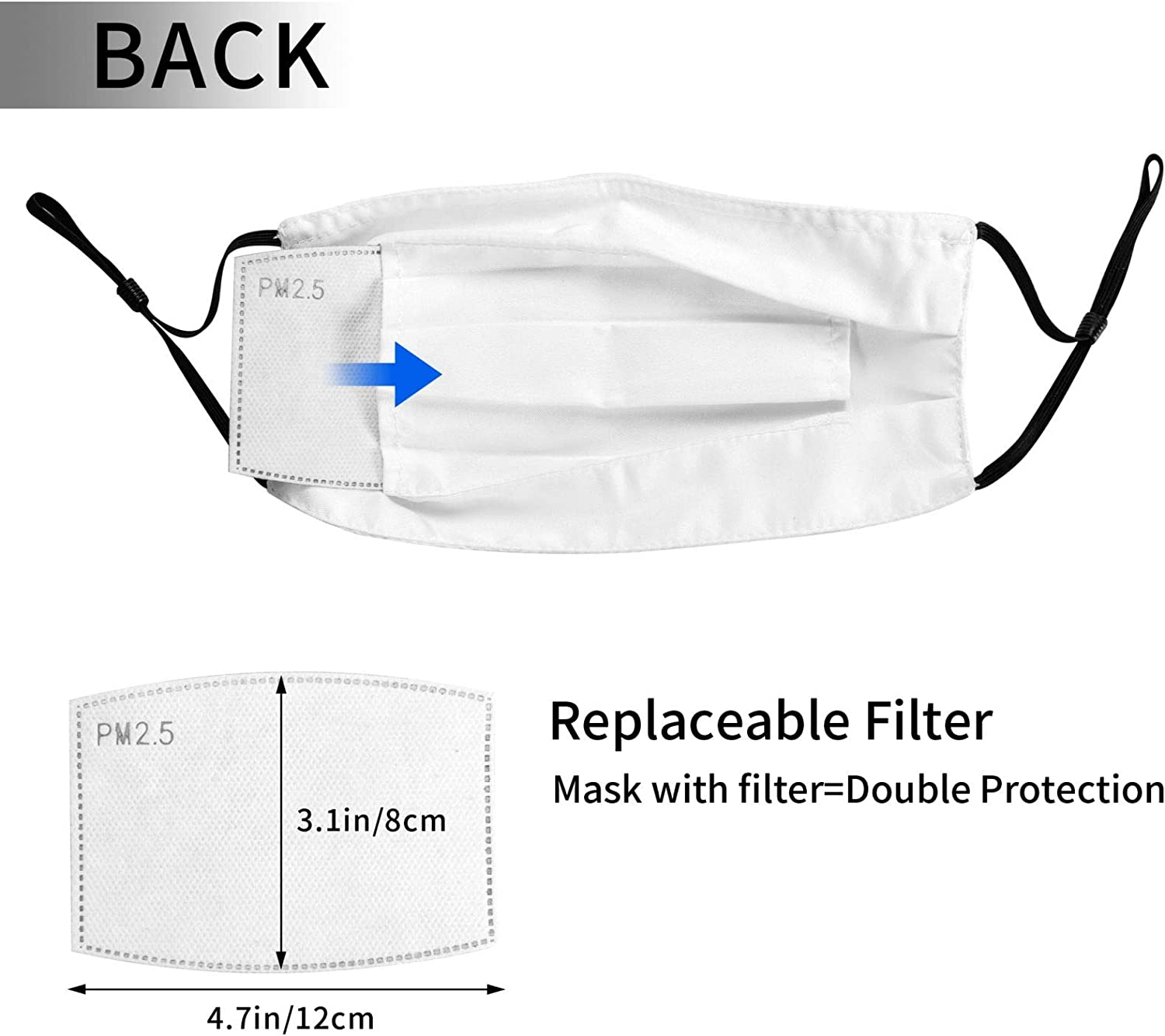 4 Pcs Face Mask Fashion Scarf Pocket Breathable Reusable Balaclavas For Men Women With 8 Filter