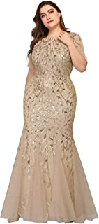 Women's Plus Size Embroidery Mermaid Evening Party Maxi...