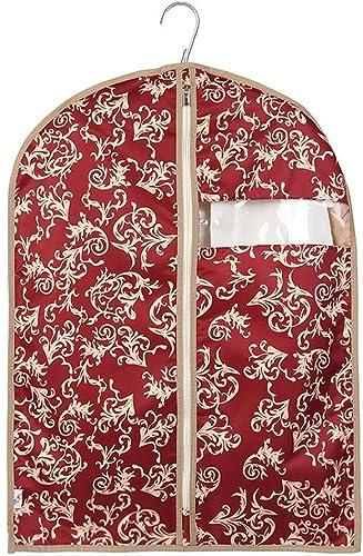 Aufbewahrungstaschen Xuan - Worth Another Rotes Blaumenmuster 5 Stück waschbar Kleidung Staubschutz Fenster Anzug Abdeckung hochwertige Koffer Tasche (Größe   60  120cm)