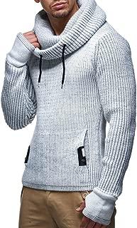 Leif Nelson Herren Strick-Pullover Strick-Pulli mit Schalkragen Moderner Woll-Pullover Langarm-Sweatshirt Slim Fit