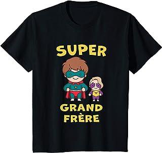 Enfant SUPERHERO GRAND FRÈRE 2021 SUPER PETITE SOEUR FILS CADEAU T-Shirt