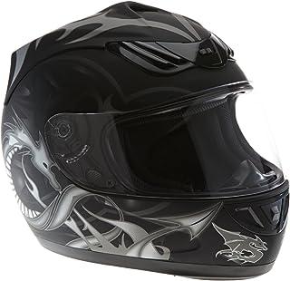 M Yctze Casco da moto integrale casco di sicurezza per motocicletta con doppia lente Modello pagliaccio bianco