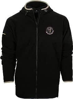 Irish Harp and Shamrock Crest Ireland Fleece Full Zip Hooded Sweatshirt