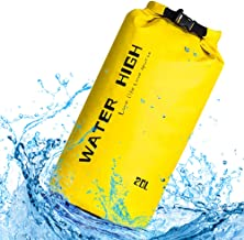 Waterproof Dry Bag, WaterHigh Floating Dry Sack Keeps Gear Dry for Boating Fishing Kayaking Sailing Camping with 2 Wet Bags - 10L/20L