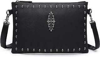 Skull Studs Crossbody Bag, Clutch Messenger Medium Pures Handbag Vegan Leather For Women Girl