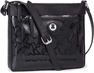 comprar comparacion Tous Kaos Shiny, Bolso Bandolera para Mujer, Negro (Black), 4x22x28 cm (W x H x L)