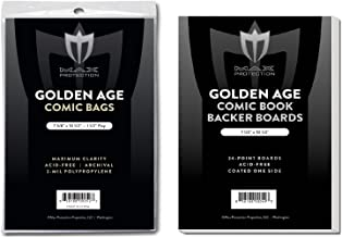 50 EACH Max GOLDEN age COMIC BOOK BAGS AND BOARDS PREASSEMBLED - FAST SHIP