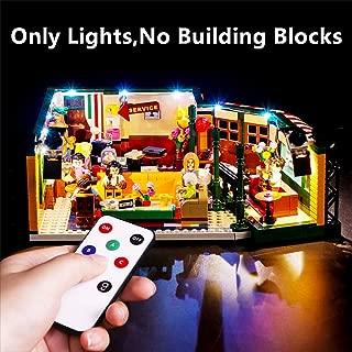 Vonado Led Lighting Kit for Lego 21319 Central Perk Ideas Series Lighting Group Building Blocks Bricks Toys Gift to Friends Adult Boys and Girls Festival Christmas(No Building Blocks)