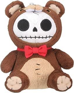 Furrybones Brown Bear Honeybear Wearing Red Bow Tie Small Plush Doll