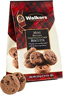 Walkers Shortbread Mini Belgian Chocolate Cookies, Chocolate Chocolate Chip Cookies, 4.4 Ounce Bags (12 Bags)