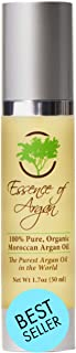 Essence of Argan 100% Pure Moroccan Organic Argan Oil - Natural EcoCert Oil that Nourishes, Conditions, and Heals Your Ski...
