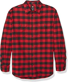Dickies Men's Long Sleeve Flex Flannel Shirt